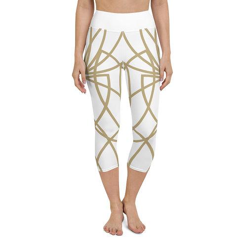 Golden Lotus Yoga Capri Leggings