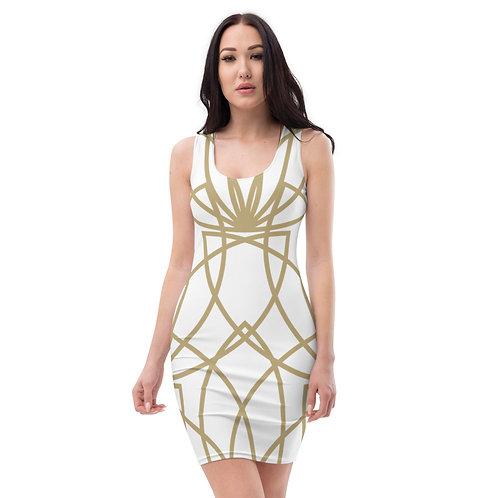 Golden Lotus Sublimation Cut & Sew Dress