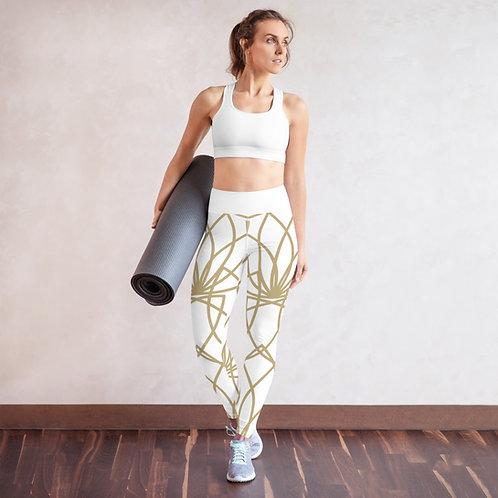 Golden Lotus Yoga Leggings