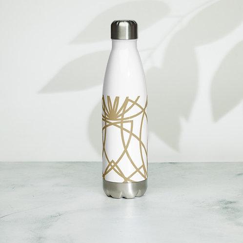 Golden Lotus Steel Water Bottle