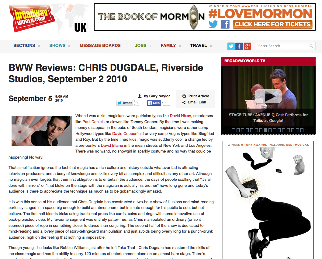 Broadway World  UK Review 1