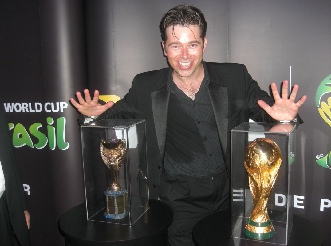 Chris Dugdale doing Magic with the World Cups