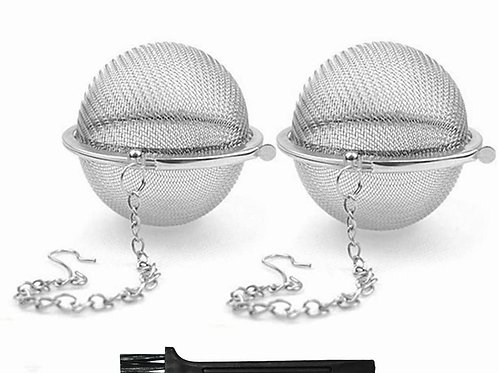 Stainless Steel Tea Strainer Mesh Tea ball Filter Net Round With Chain