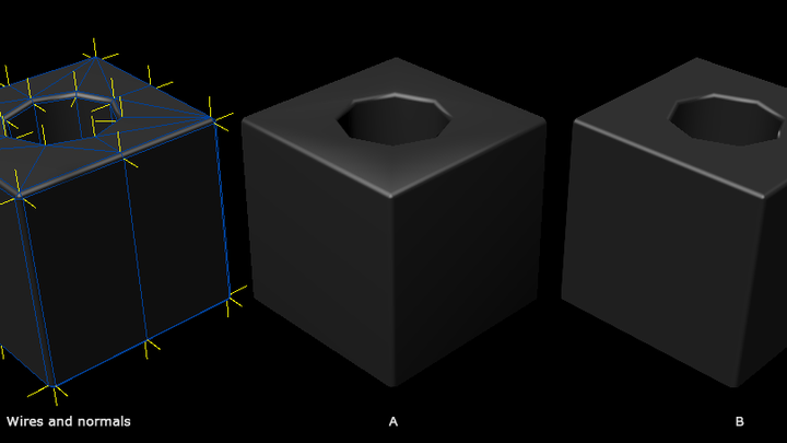 Face weighted vertex normals(FWN)とは?