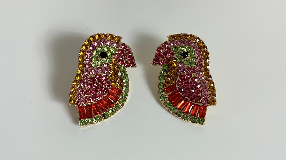 Tropical Bird Sequin Earring