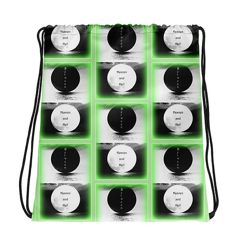 Between Heaven and Hell Full Moon Green mist Drawstring bag Witchy accessories