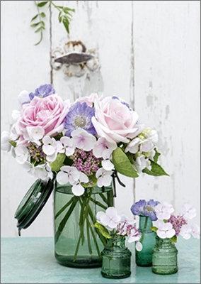 Mini-Karte Sommerblumen 8 x 6 cm
