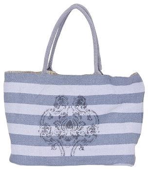Tasche blau-grau