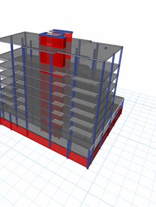 10 story concrete structure