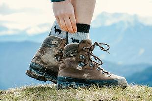 Alpaka Wandersocken in den Allgäuer Alpen