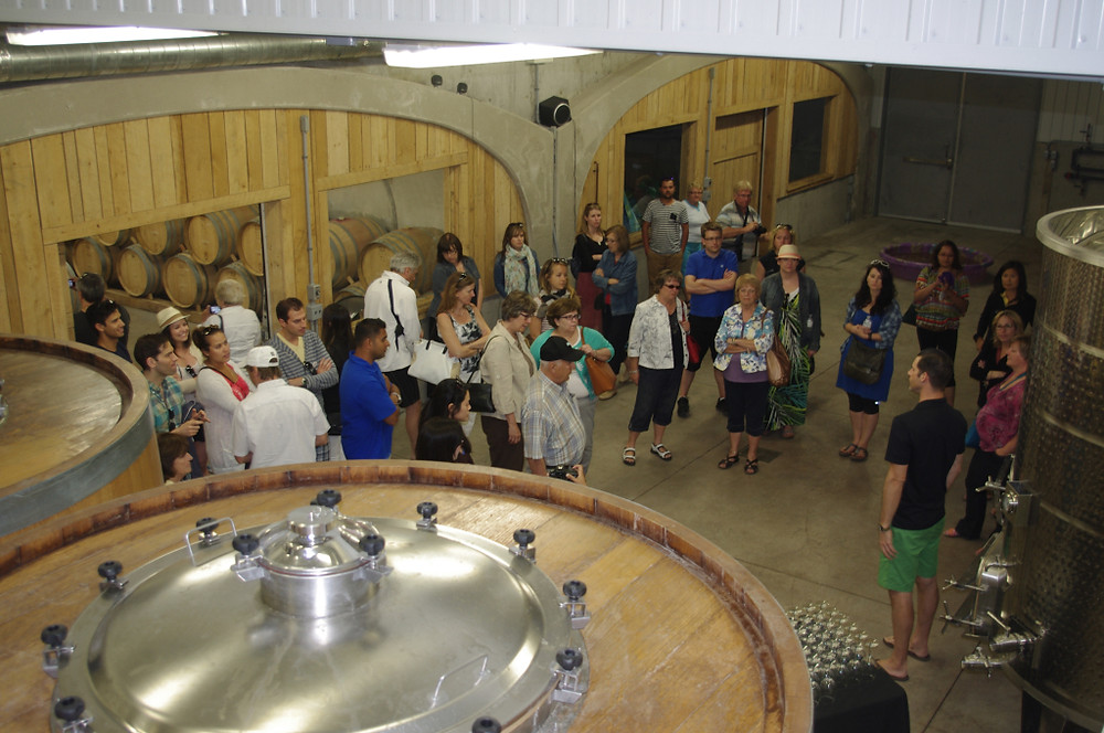 Keinte's cellar impresses the tour