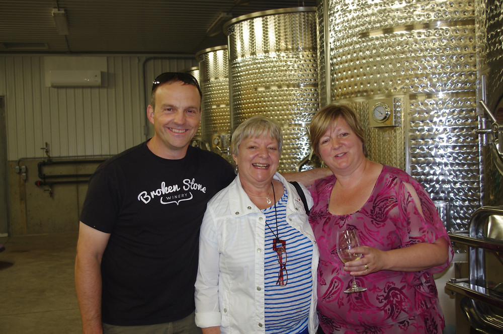 A winemaker, his mom, and his sister