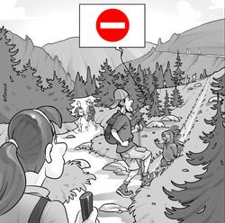 Panneau info sentier