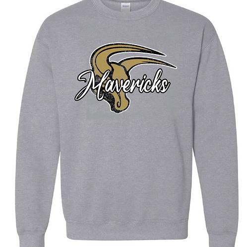 Gray Crew Neck Sweatshirt