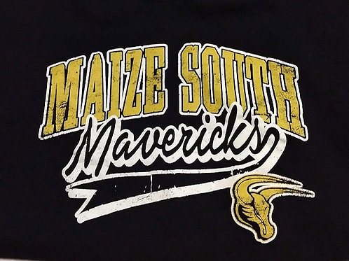 T-Shirt Black - MS Mavericks Gold Logo