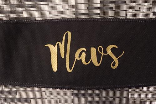 Headband - Tie Back Gold Mavs