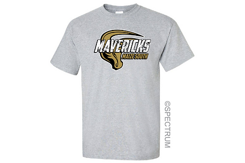 Gray T-Shirt- Crackled Mavericks
