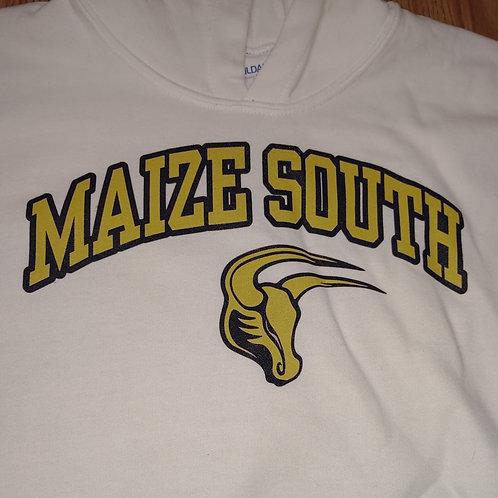Hoodie White - Maize South Mav Head