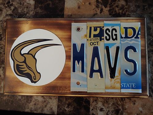 (Pre-Order) Mavs License Plate Plaque