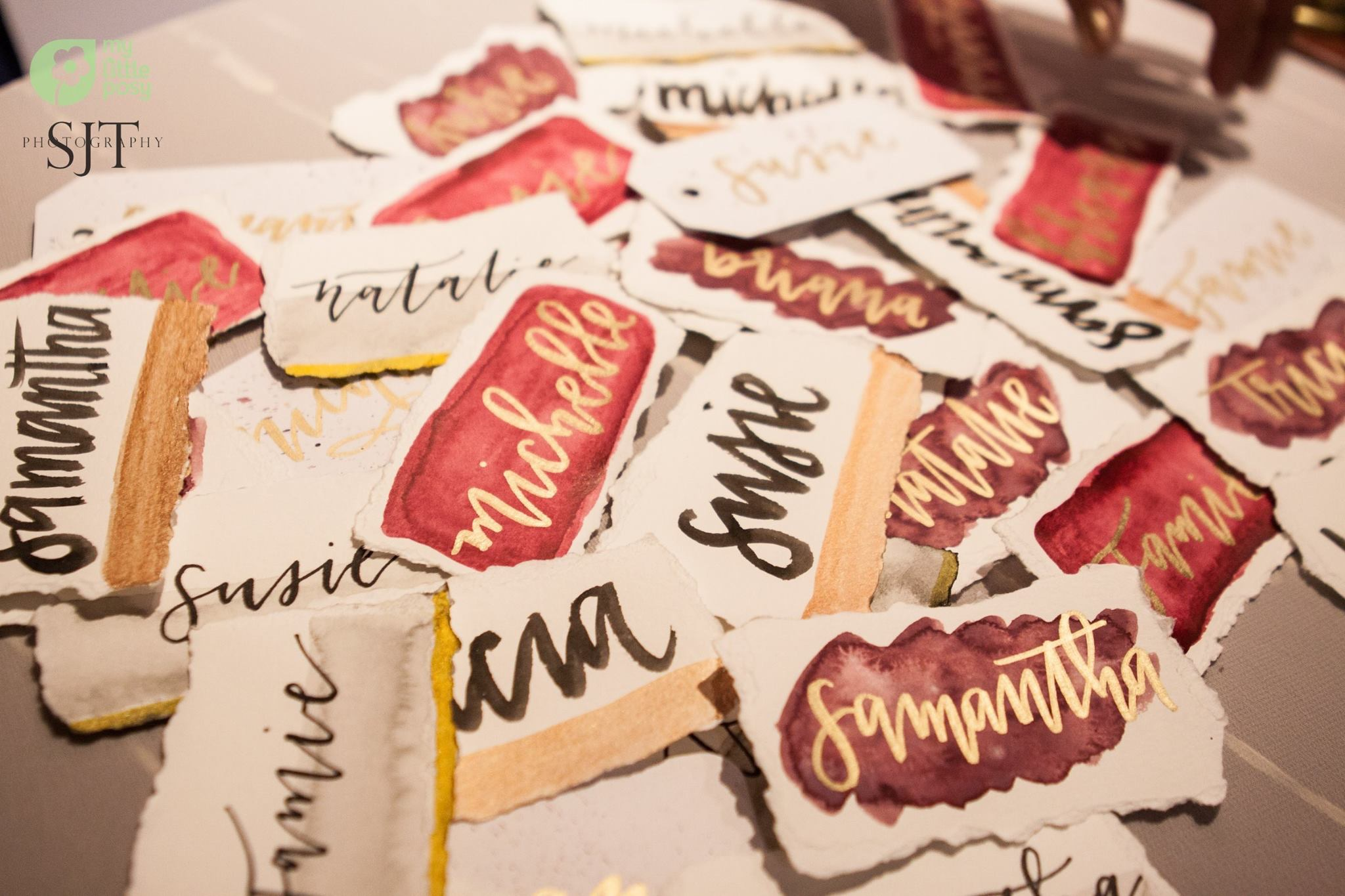 Water Color Place Cards