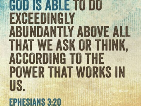 Ministers Monday Moment - Think Big, Dream Big, Trust God