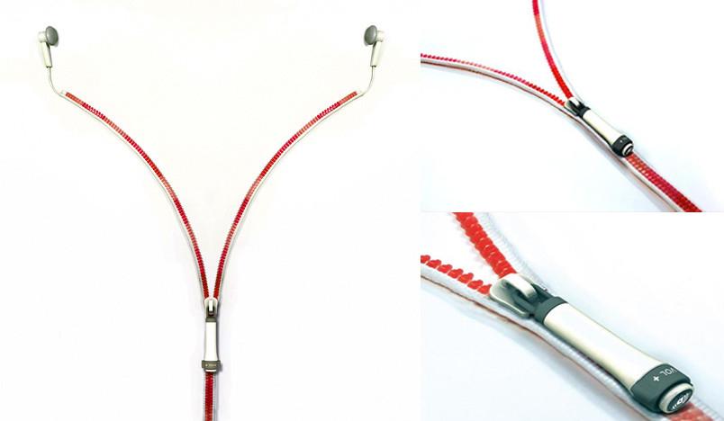 zipper headphone