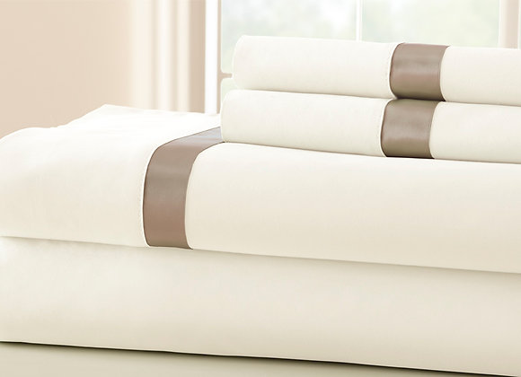 Satin Banded 100% Egyptian Cotton - King/Queen