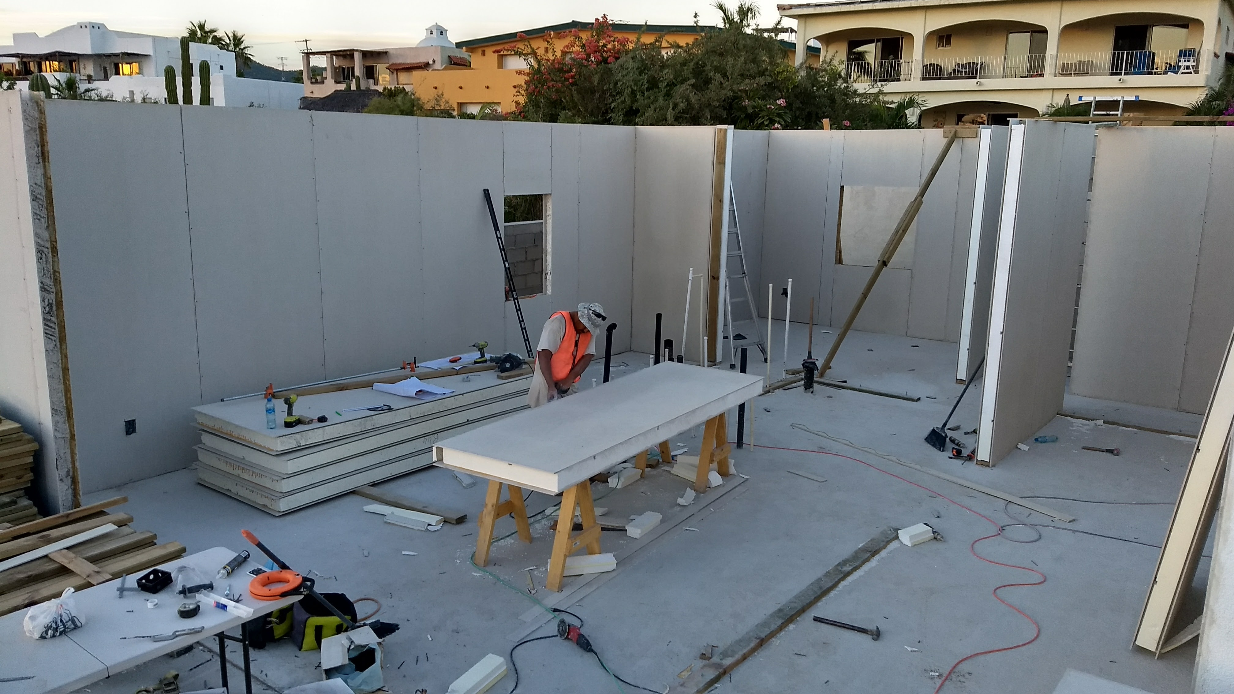 Walls go up quickly and securely