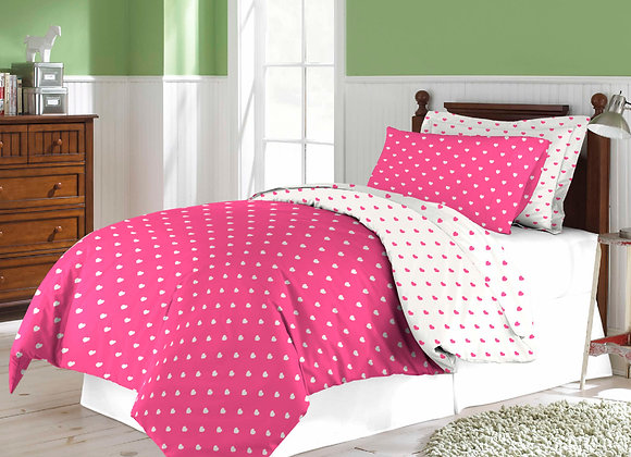 Two Piece Girl's Room Twin Size Duvet Set