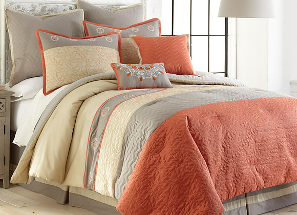 8 Piece Comforter Sets- Linear Designs