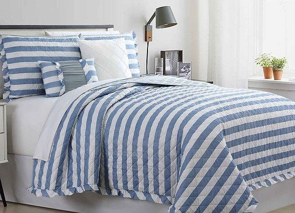 5 Pieces Duvet Set - Linen Stripe