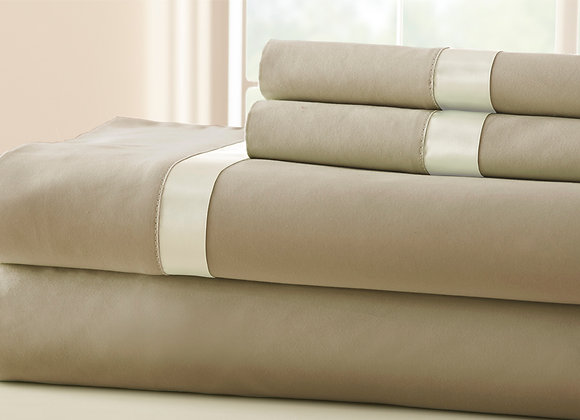 Summer Satin Banded 100% Egyptian Cotton