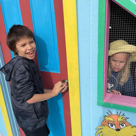 Playing in the Children's Playhouse
