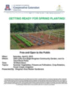 Spring Planting Workshop Flyer Apr 2019.