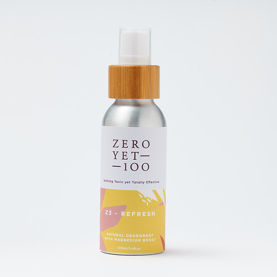 Zero Yet 100 - Z3 Refresh Deodorant Spray / Z3 涼爽型止汗噴霧 – 100ml