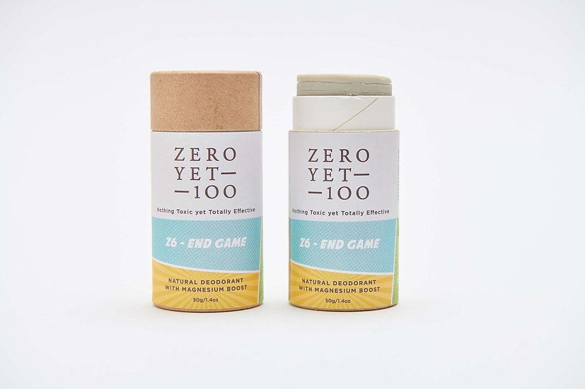 Zero Yet 100 - Z6 End Game Deodorant Push up Stick / 紙棒裝止汗劑 - 50克