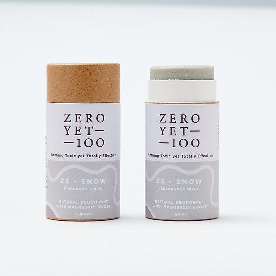 Zero Yet 100 - Z5 Snow Deodorant Push up Stick (No Fragrance) / Z5雪地紙棒裝止汗劑 – 50g
