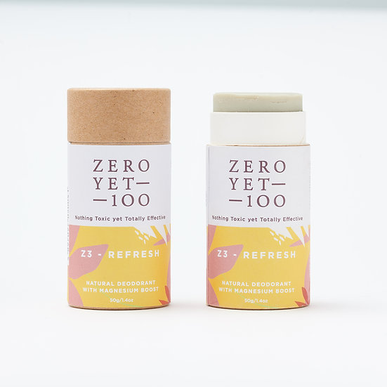 Zero Yet 100 - Z3 Refresh Deodorant Push up Stick/ Z3 涼爽型紙棒裝止汗劑 – 50g