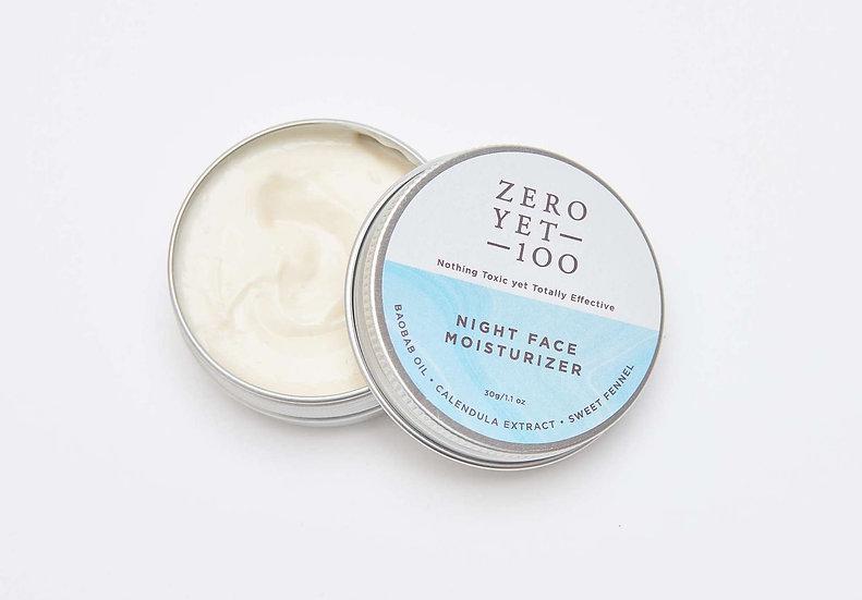 Zero Yet 100 - Night Face Moisturizer / 夜間保濕霜 - 30gm