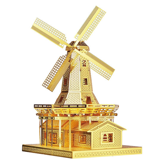 piececool -  Dutch Windmill (Gold / Silver) / 荷蘭風車 (金色/銀色)