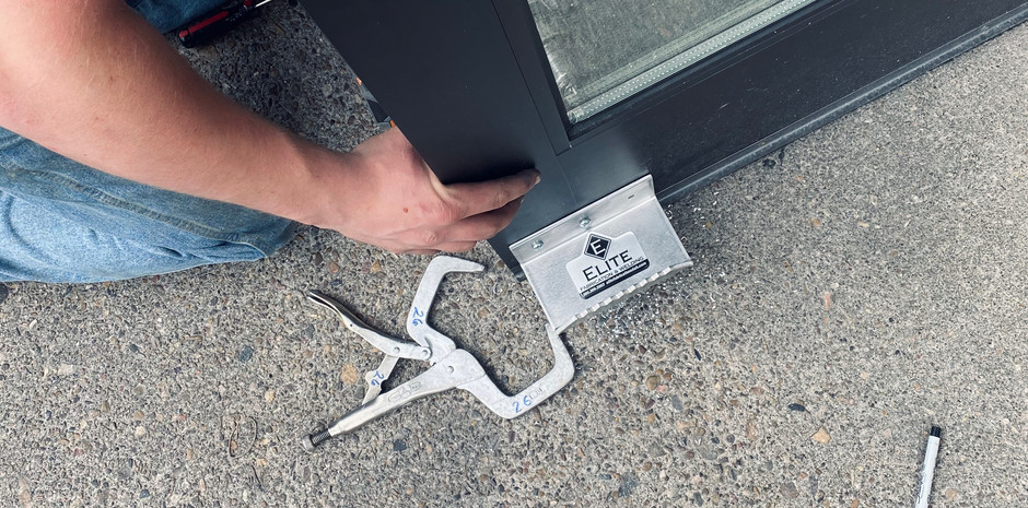 Installed on the bottom of your door