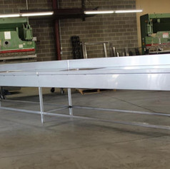 Flawless stainless steel 17', double sink crafted and welded