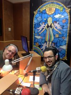 מגיש תוכנית פלמנקו עם איציק יושע. רדיו 88