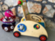 Toys and childcare at MONSTER CAFÉ, Kalymnos