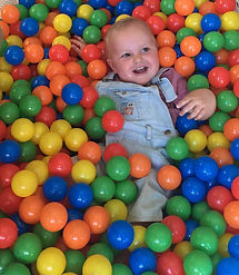 Ball pool, playground at MONSTER CAFÉ, Kalymnos