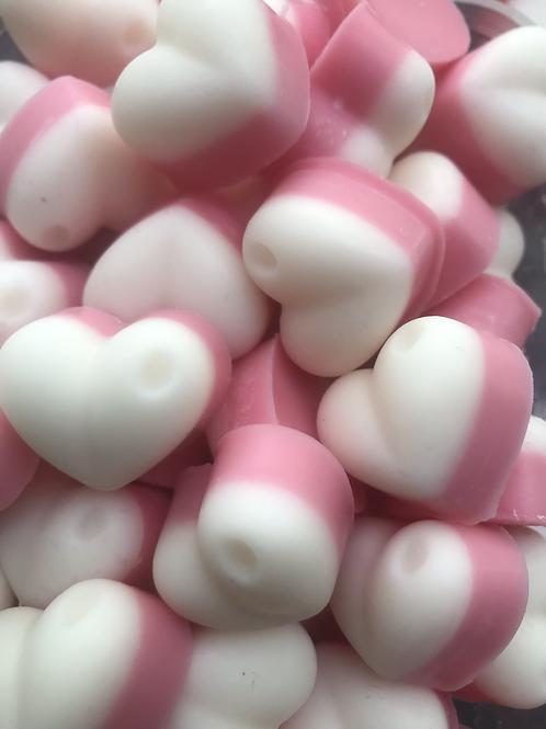 Rhubarb & Custard - Hearts (35g bag)