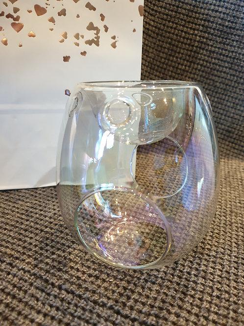Clear, Pearlised Glass Burner