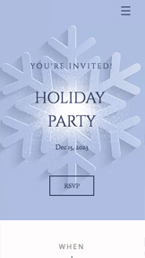 Bröllop och fest website templates – Holiday Party