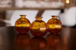 Orange Bubble Vases