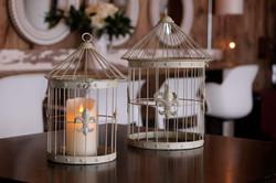 Cream Wire Bird Cages